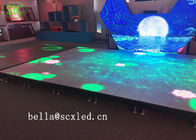 Waterproof P10 Light Weight Led Dance Floor Full Color For Disco / Dj Bar