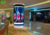 P4 Indoor Fixed Advertising Cylindrical LED Display Screen 5 Year Warranty
