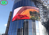 Curved Round Cube Arc Advertising LED Screens Indoor / Outdoor High Definition