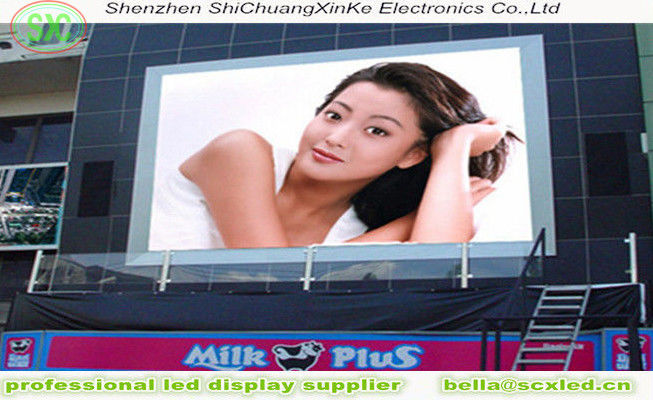 p6 digital billboard advertising 1R1G1B  outdoor high definition full Color LED billboard For shopping mall,