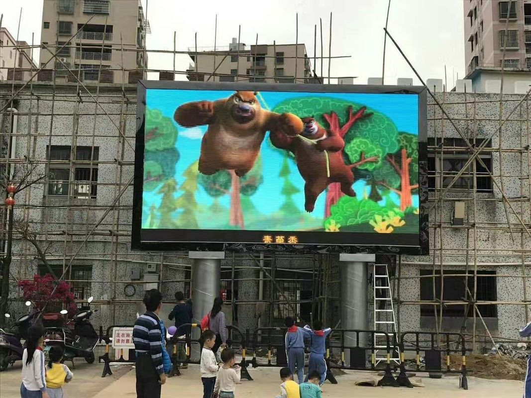 Advertising Outdoor Full Color LED Display P10 LED Display For Pictures And Videos