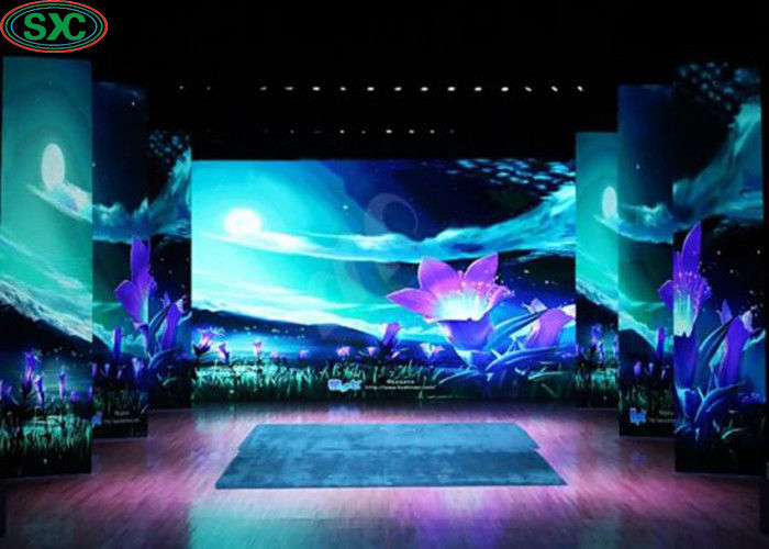 Full Color P4 Led Stage Screen Rental , High Brightness Led Display 1/16S Mode Driving