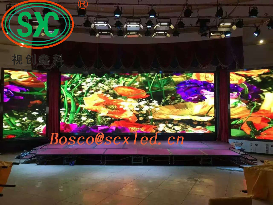 Ultra Thin 4mm HD Indoor Full Color LED Display RGB 3 In1 High Resolution 1200Hz