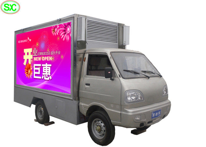 Outdoor Mobile Truck LED Display , Rental Led Mobile Screen P4 5 Years Warranty