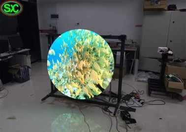 360 Degree Advertising Rgb Led Display P5 , Sphere Led Video Ball Screen